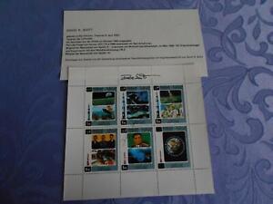 Sharja  Sheet original signiert 2y Dave Scott Space