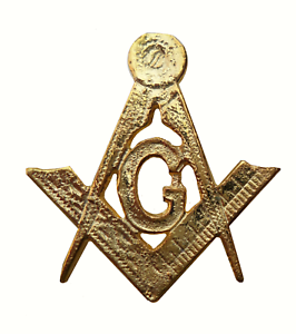 Square & Compasses with G Gilded Symbol For Orange Order Collarette