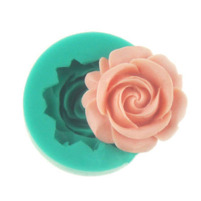 Cake Chocolate Sugarcraft Mold Cutter Silicone Rose Flower 3D Fondant Tools DIY