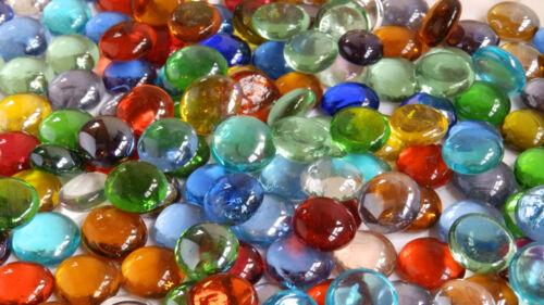 Stones Mixed Colours Gem Glass Pebbles Nugges