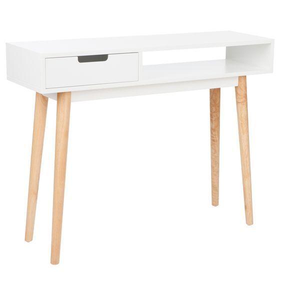 NEW Zanui Sadie Gloss White Console Table