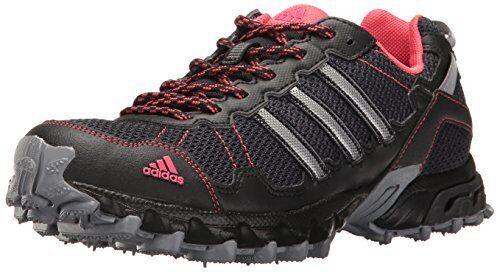 adidas performance di donne rockadia w trail runner grigio / nero / pink 7