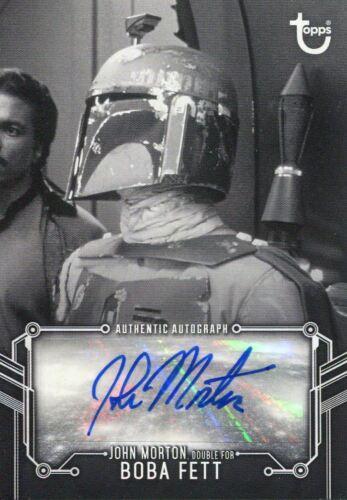 double for Boba Fett Star Wars ESB Black /& White Autograph Card John Morton