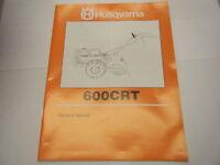 Husqvarna 600crt Owners Manual