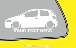 2x-LOW-YOUR-TEXT-VW-Fox-Volkswagen-Outline-VAG-silhouette-stickerDubdecal-350