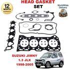 FOR SUZUKI JIMNY 1.3i JLX 16v G13BB 1998-2005 NEW CYLINDER HEAD GASKET SET