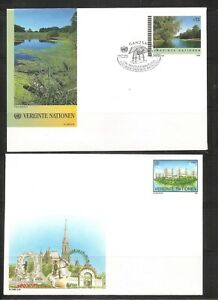 United-Nations-Vienna-SC-U1-And-U3-Donaupark-Vienna-Mint-And-FDC