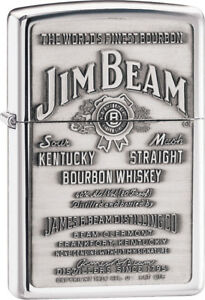 Details about Zippo Lighters & Accessories New Jim Beam Pewter Emblem 250JB  928