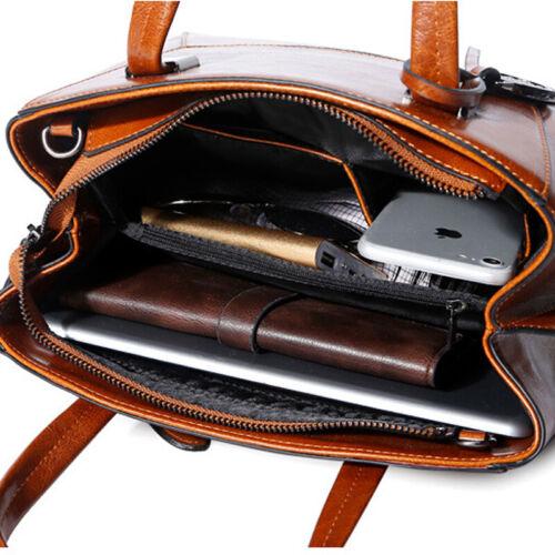 Genuine Leather Women/'s Classic Handbag Crossbody Shoulder Bag Satchel Tote Bag