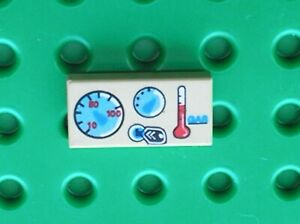 LEGO-Tile-1-x-2-Groove-Car-Gauges-Pattern-Ref-3069bpx23-Set-2995-7240-8375-8434