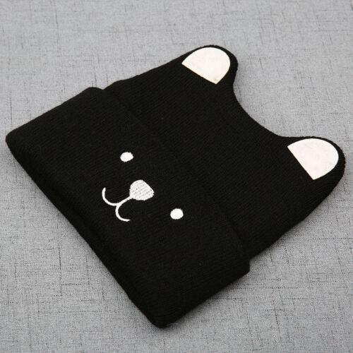 Baby Kids Children Soft Cartoon Hat Cute Ears Elastic Warm Beanies Caps Gift New