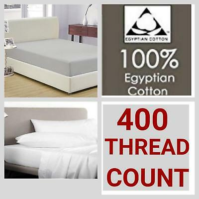 """Depth 40cm 400 Thread Count 100/% Egyptian cotton EXTRA DEEP Fitted Sheet 16/"""""""