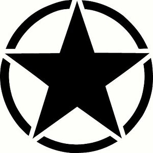 Army-Star-Vinyl-Sticker-Decal-Military-Choose-Size-amp-Color