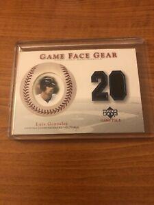 2003 Upper Deck Game Face Gear GU Jersey Relic Luis Gonzalez GG-LG