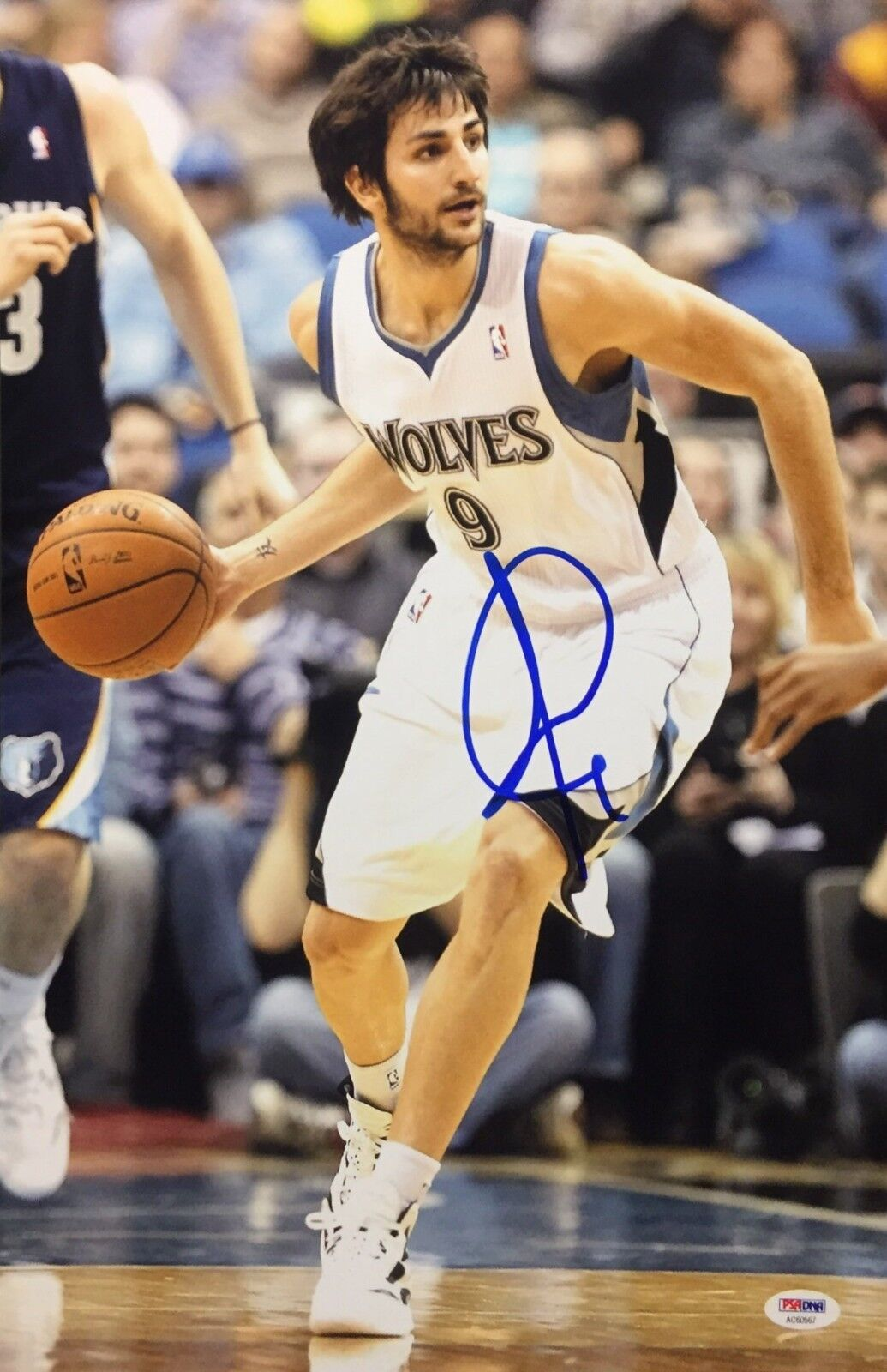 Ricky Rubio Signed Minnesota Timberwolves Basketball 12x18 Photo PSA AC60567