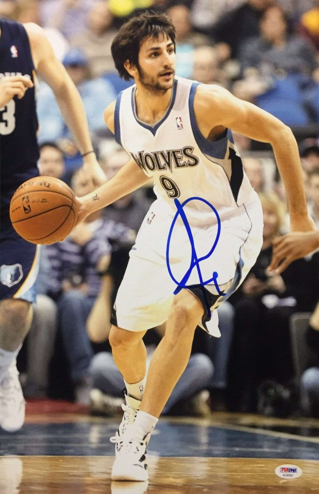 Ricky Rubio Signed Minnesota Timberwolves Basketball 12x18 Photo PSA AC60567