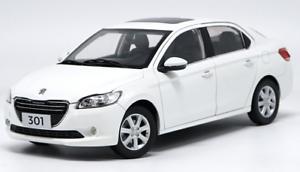 1 18 Dongfeng Peugeot Original manufacturer, white Peugeot301 Peugeot301 Peugeot301 Die casting model e584dd