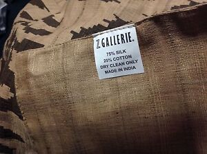 Details About Euc Natural Pattern Table Runner By Z Gallerie Brown On Beige 13 X 96 Silk