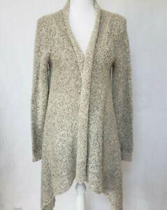 Anthropologie-Gray-Cardigan-Sweater-Medium