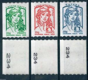 MARIANNE-amp-LA-JEUNESSE-TIMBRES-ADHESIFS-ROULETTE-SERIE-862-863-864
