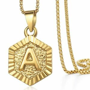 Monagram-Hexagon-A-Z-Gold-Filled-Initial-Letter-Pendant-Necklace-Chain-Unisex
