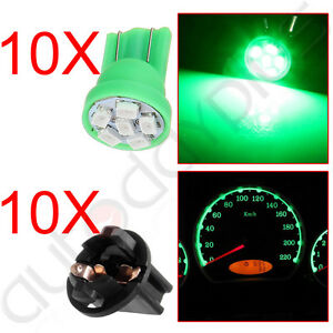 10x Super Blue /& Green 6 LED T10 Wedge Turn Signal Hi-Beam Indicator Bulb