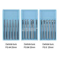 Dental Surgical Round Tungsten Carbide Burs Fg468 Straight Fissure 25mm 16mm