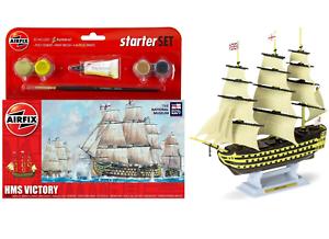 Airfix Starter Set HMS Victoria Royal Navy Model Kit pinturas & Cepillo Conjunto A55104