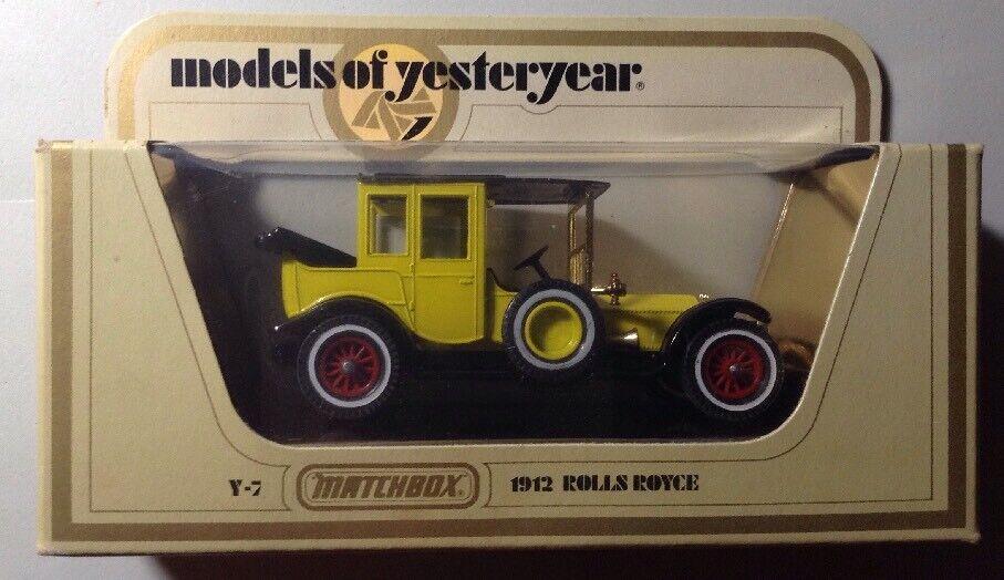 MATCHBOX MODELS OF YESTERYEAR Y-7 1912 Rolls-Royce