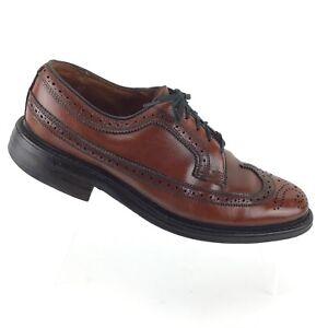 9a76cc1d8d7b JC PENNY Shoe Classic Brown Leather Wingtip Brogue Oxford Mens 7.5 D ...