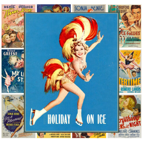 """Ice Skating Sport Pinup Vintage Movie MP469 13 posters 8/""""x11/""""//A4 Mini Posters"""