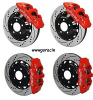 Wilwood Disc Brake Kit,05-13 Dodge Charger,300,300c,14 Drilled Rotors,red Calip
