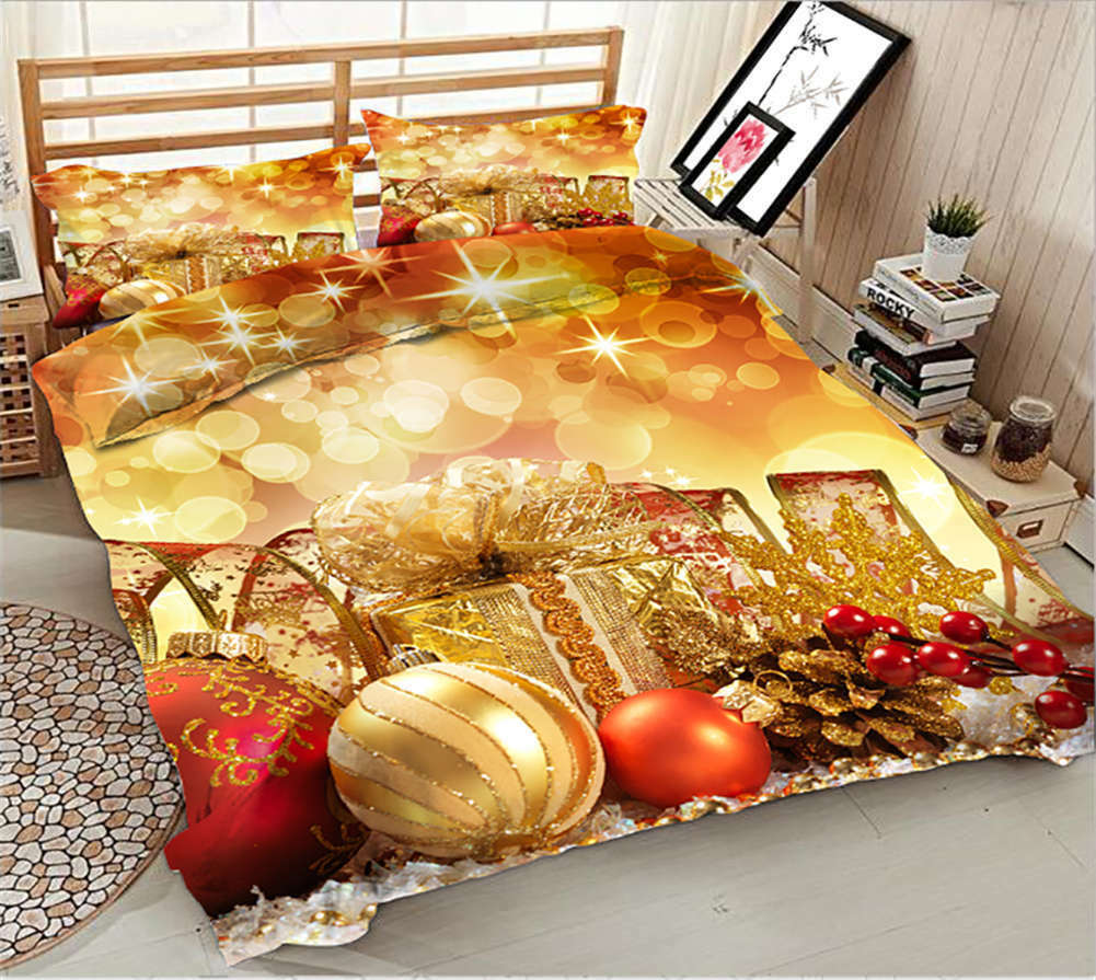 Dazzling Decoration 3D Printing Duvet Quilt Doona Covers Pillow Case Bedding Set