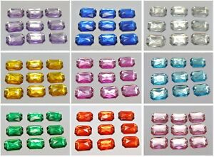 100 Flatback Acrylic Rectangle Sewing Rhinestone Gems 13X18mm Sew on beads