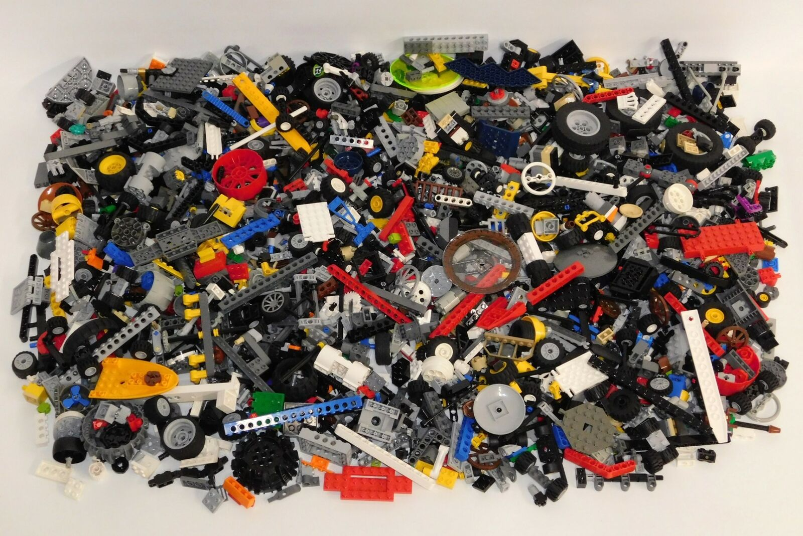 Bulk Lot 7+ Pounds LEGO Technic Assorted Parts, Wheels, Rods, Connectors, More A