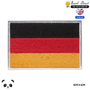 Germany National Flag Embroidered Iron On Sew On PatchBadge For Clothes etc