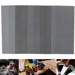 70pcs Wet Dry Sandpaper 400-2000Grit Abrasive Sanding Paper Polish Sheets Pack