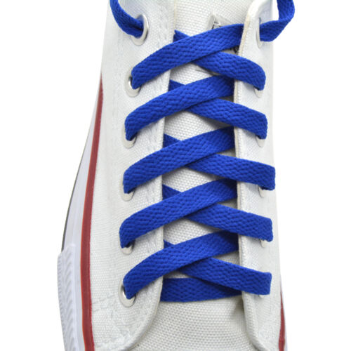 "Flat Shoelace 8 mm /""Royal Blue/"" Athletic Sneakers 27/"",36/"",45/"",54/"",63/"""