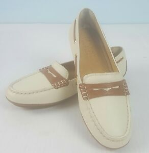 Sts93136 Ivory Casual M Size Scarpe Driver Sperry 5 Penny 5 Gold Mocassini Nwob 1twFPn