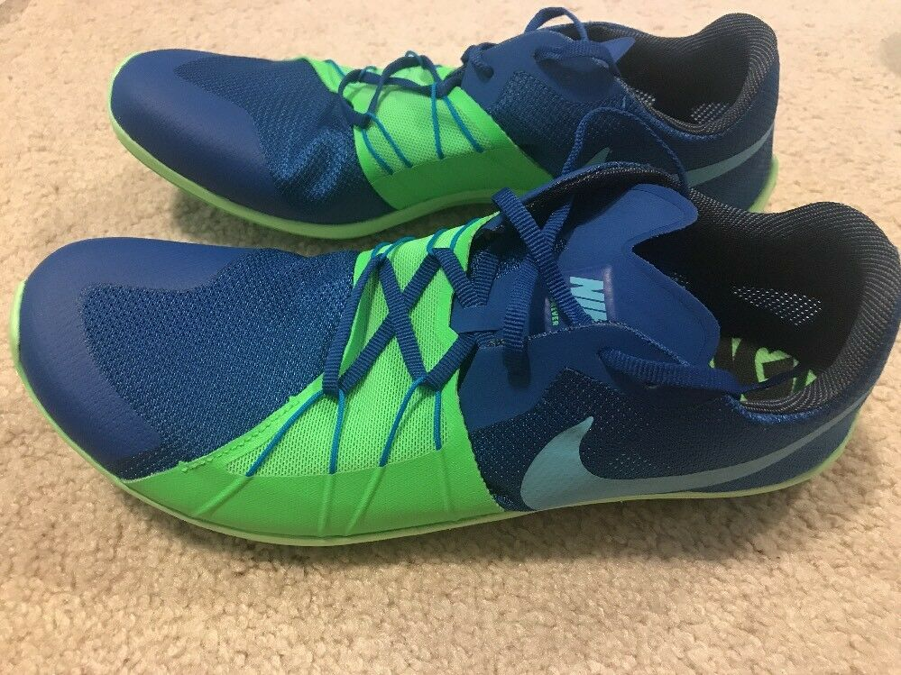 NWOB Nike Zoom Forever XC 5 Track Cross Country shoes Men's 8.5 bluee Green