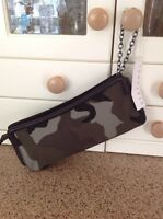 Great Stefanel Large Clutch Bag With Camouflage Pattern With Defect