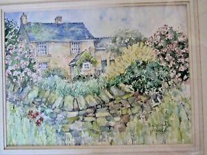 """Watercolour """"Hollinscough""""Cottage, Sheffield Jo Harnson. (unframed).13.5"""" x 10""""."""