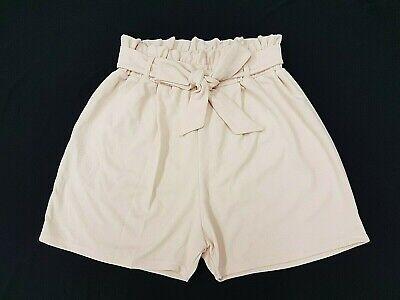 **new 2019 Look Baby Pink Paperbag Plus Size Curve High Waist Paper Bag Shorts** Einfach Und Leicht Zu Handhaben