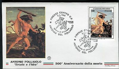 Professional Sale Italy 1998 Italian Art-hercules/idra/pollaiolo/painter/goldsmith/sculptor Fdc Art Topical Stamps