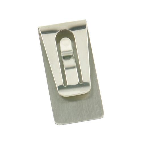 HIGH QUALITY black /& silver Slim Pocket Cash Money Clip Holder Stainless Steel
