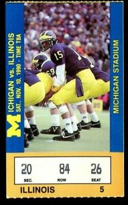 Ticket College Football Michigan Wolverines 1990 11.1 ...