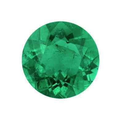 NATURAL FINE GREEN EMERALD - ROUND  DIAMOND CUT - BRAZIL - TOP GRADE - LOOSE GEM