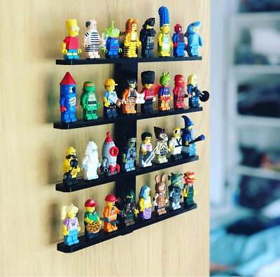 LEGO Wall Display Support Stand BLACK New Set of 16 Holder for Minifigure