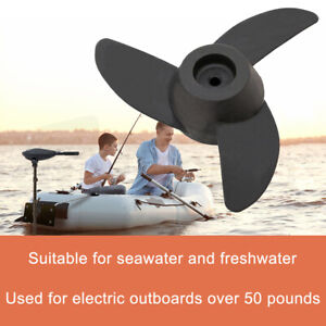 Details about Marine Parts Trolling Motor 3 Blade Propeller For 55/60/86 lb  Electric Outboard