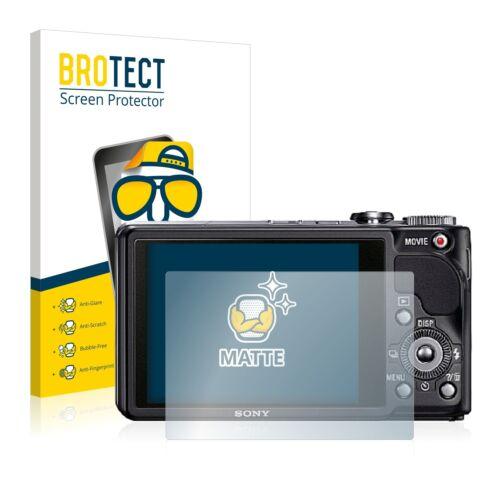 2x Sony Cyber-shot DSC-HX9V Mate Película De Protección Protector De Pantalla Antirreflejo